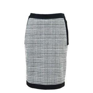❤️ Lanvin Wool Blend Houndstooth Wool Blend Skirt